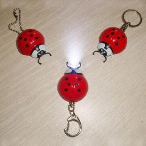 Ladybug LED Keychain Light for Promotional Purposes Manufactures