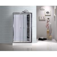 White ABS Tray Chrome Profiles Rectangular Shower Cabins 1200 X 800 X 2250 mm Manufactures