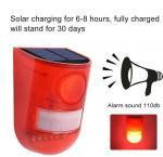 6LED 110dB Loud Sound Flashy Strobe Lights Motion Sensor Security Alarm System,Solar Powered Led Motion Sensor Light Manufactures