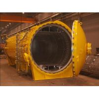 Quality horizontal hot press tank autoclave with inflatable seals and circulation fan for sale