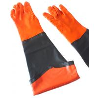 PVC gloves with long sleeve cuff  chemical industrail Manufactures