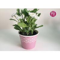 Customized Wooden Design Single Wall Plant Paper Bucket Double PE Coated Manufactures