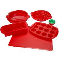 Silicone Bakeware Set 18-Piece Set including Cupcake Molds, Muffin Pan, Bread Pan, Cookie Sheet, Bundt Pan Manufactures