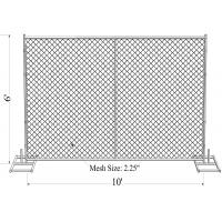 Buy cheap Construction Site 6'H X 8'W Temporary Fence Panel, 11-1/2 ga. Chain Link, No Bracing 45 lbs from wholesalers