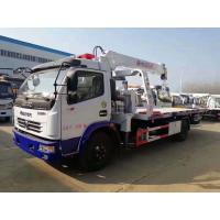 China Dongfeng 5tons winch hydraulic mounted crane 3.2 ton slide tray body china rollback wrecker beds truck for sale on sale