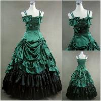 Cosplay Civil War Dress Wholesale Custom Made Victorian Dress Luxury Satin Women Gothic Long Dress Lolita Cosplay dress Manufactures