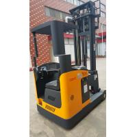 Narrow Aisle Seated Electric Pallet Stacker Reach Type Yellow Color Manufactures