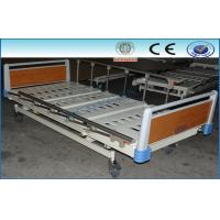 Three Function Mobile Electric Hospital Beds , Ward Medical Furniture Manufactures