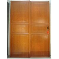 Popular Decorative Aluminium + PVC Solid Wood Sliding Doors For Wardrobe Manufactures