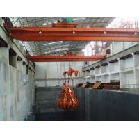 China Automatic 24-hours Running Electric Overhead Crane With Grab Bucket For Lifting Waste To Boiler on sale