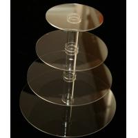 4 Tiers Simple Grocery Acrylic Display Stands For Bakeware / Cake Manufactures