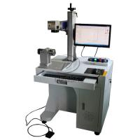 Stainless Steel Cylinder Fiber Laser Marking Machine with Rotary Axis AC110V Manufactures