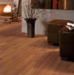 China Matt Lacquered Burma teak Flooring 90mm Plank on sale