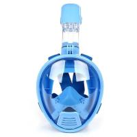 Panoramic Visibility Diving Full Face Mask Blue Color With Nylon Strap Manufactures