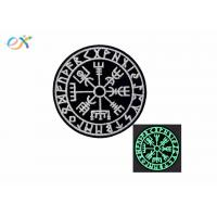 China Glow In Dark Custom Velcro Patches Compass Morale Tactical Embroidered Applique Fastener on sale
