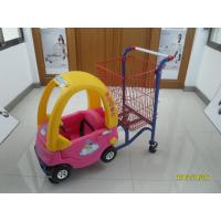 95L Plastic Children / Kids Shopping Carts With red powder coating Manufactures