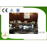 China Upper or Down Fume Exhaustion Gas Teppanyaki Grill Table 12 Seats Pipeline Natural Gas Heating on sale