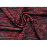 Attractive Gamut of Wine Red Melange Fabric , Nylon Polyester Spandex Fabric Manufactures