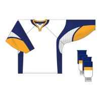 Custom Team Ice Hockey Jerseys Embroidered Hockey Shirts , Red / Yellow / White Manufactures