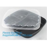 White Round Plastic PP Food container bento box heated disposable microwave lunch box,food bento storoage box bagease pa Manufactures