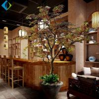 China Customized Artificial Maple Plant , Fake Canadian Maple Tree With Gradient Branches on sale