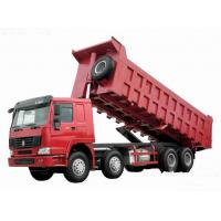 371hp Howo 8x4 tipper truck / dumper truck HW76 cab with one berth 7m length Manufactures