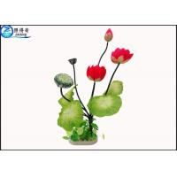 Lotus Flower Simulation Plastic Aquatic Plants Aquarium Grass Fish Tank Aquatic Decor Manufactures