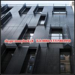 Powder coated aluminium perforated panel for facade Manufactures
