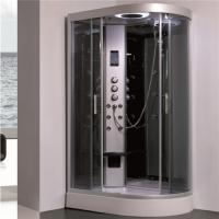 All In One Shower Stall P Shaped Shower Enclosure With Sitting Tub Sanitary Ware Manufactures