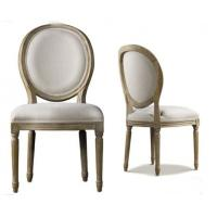 China Antique Furniture Indoor Wood And Fabric Dining Chairs For Commercial Restaurant on sale