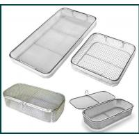 Medical Grade Stainless Steel Mesh Tray With Drop Handles For Washing Or Sterilization Manufactures