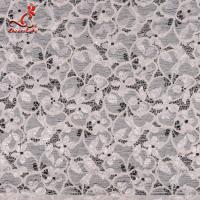 Fashion Swiss Lace Fabric 140cm Width / Embroidered Bridal Lace Fabric Manufactures
