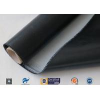 0.5mm 3732 Black Silicone Rubber Coated Fiberglass Cloth For Fabric Expansion Joint Manufactures