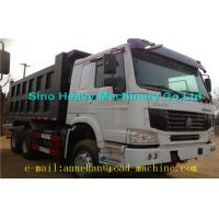 6 x 4 336hp / 371hp Sinotruk Howo Tipper  Dump Truck Hyva Lifting Iso Ccc  thickness of bottom and side