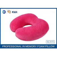 Customized Soft Plush Cover U Shaped Memory Foam Travel Neck Pillow For Seated Manufactures