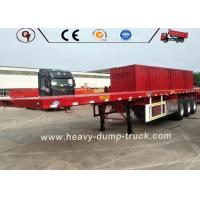 70 Ton Low Flatbed Semi Trailer Truck BV SSS ISO Certification Long Life Manufactures