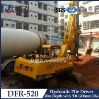 Hydraulic Piling Driver Machine DFR-520 Mounted on Crawler,20m Hydraulic Bore Pile Machine Manufactures