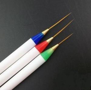 China 3pcs Nail Brush Pen Set Paint Liner Drawing /Acrylic Kolinsky Nylon Brush,Nail gel brush on sale