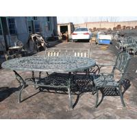 Open Air Balcony Courtyard Cast Iron Garden Table And Chairs Modern Leisure Manufactures