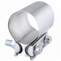 Aluminized Preformed Exhaust Band Pipe Clamp Heavy Duty Lap Joint Clamp Manufactures
