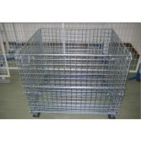 China Galvanized Plating Folding Wire Mesh Cage For Goods Storage In Warehouse on sale