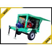 China Movable Water Cooled Diesel Powered Water Pump With Two Wheels OEM on sale