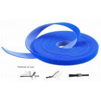 Quality Heat Resistant Strong Adhesive Hook And Loop Cable Wrap Blue Waterproof for sale