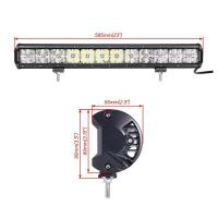 7D Cross 144W DRL Car Roof Led Light Bar , 110v Spot / Flood Led Light Bar Manufactures