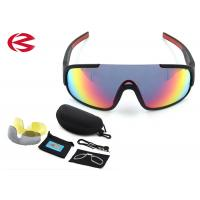 Black Waterproof Anti Glare Interchangeable Lens Sunglasses For Bike Riding Manufactures