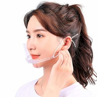 Slipping Resistant Transparent Plastic Face Mask For SPA Manufactures