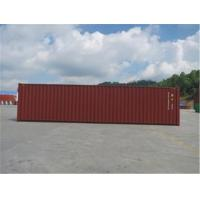 Metal RED High Cube Shipping Container International Standards 13.71m Length Manufactures