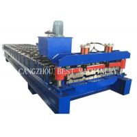 China Building Box Profile Guage 28  Steel Roof Roll Forming Machine 6kw Power for sale