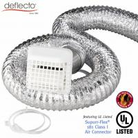 Outdoor Flexible Air Vent Kit  4'' 25 Ft Plastic Vent Cap With Grid Manufactures