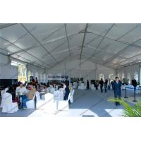 White PVC Cover PVC Event Tent , Large 20m Clear Span Tent For Outdoor Auto Shows Manufactures